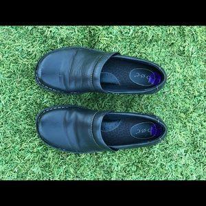 Black slip on loafers for women